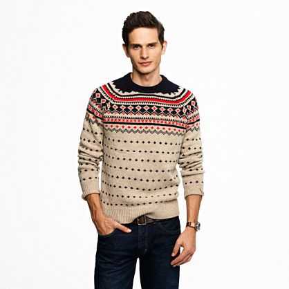 Lambswool Ayrshire Fair Isle sweater/ Is it really weird that I ...