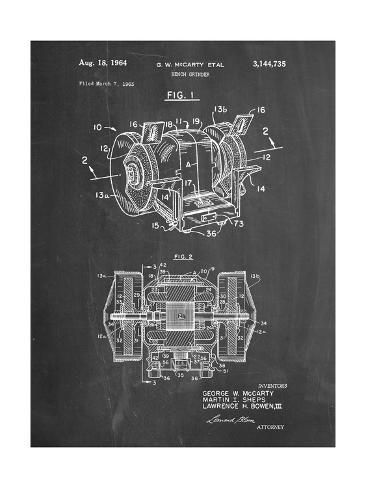 Pp733 Chalkboard Bench Grinder Patent Poster Giclee Print By Cole Borders Giclee Print Art Prints Bench Grinder