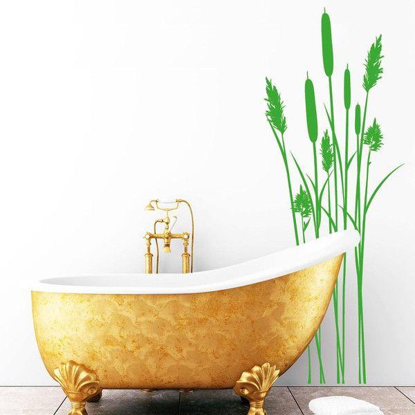 Wandtattoo Badezimmer Schilf Bambus - wandtattoo für badezimmer