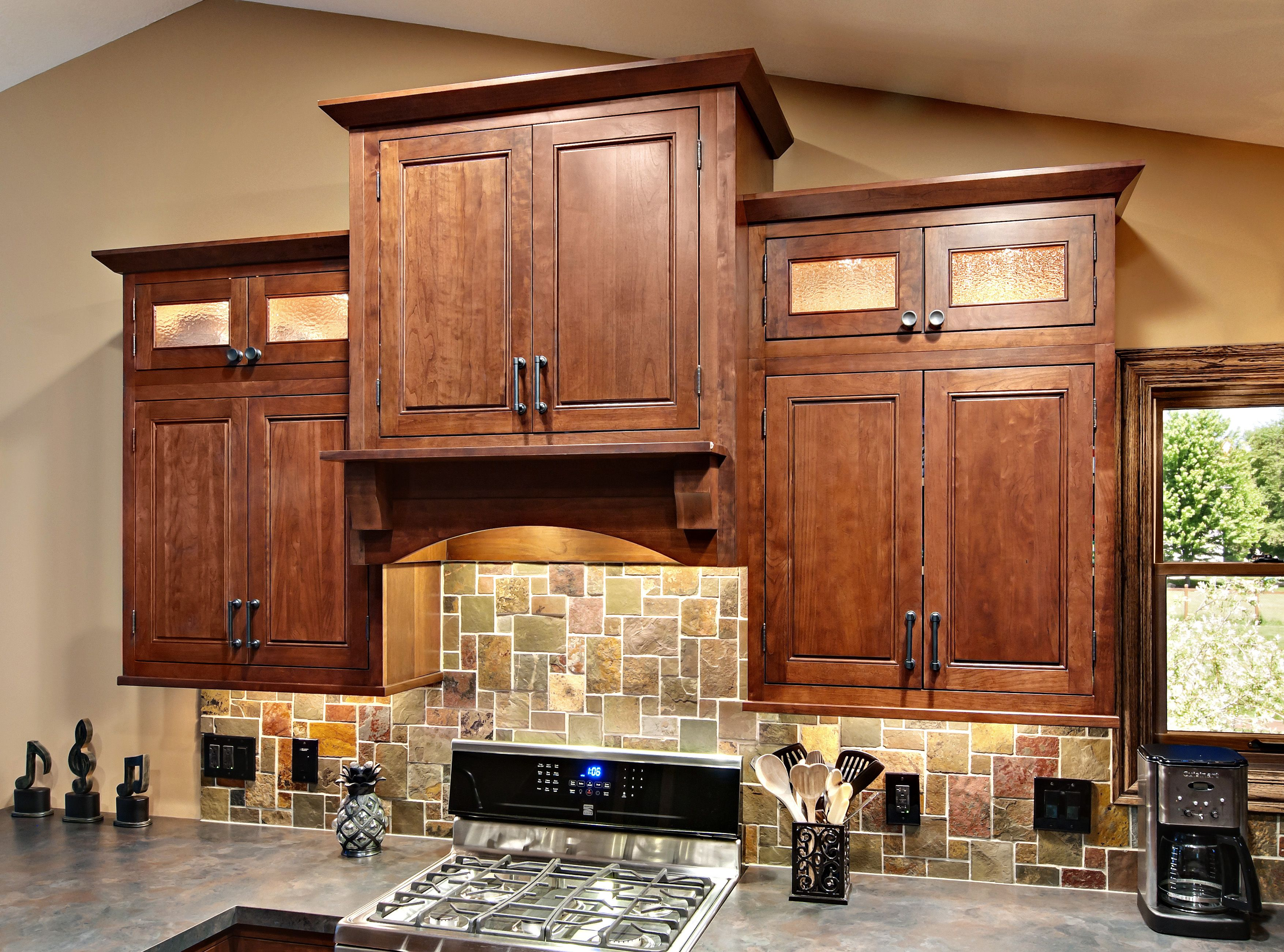 The Kitchen Cabinets Are The Fairmont Inset Style From Cliqstudios Com In Th Cherry Cabinets Kitchen Solid Wood Kitchen Cabinets Custom Kitchen Cabinets Design