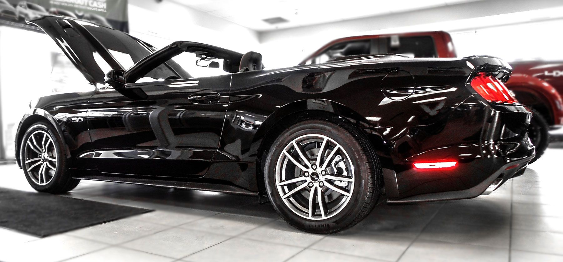 six speed manual rwd 2015 ford mustang gt premium convertible - 2015 Ford Mustang Gt Convertible Black