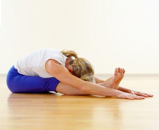 Back Stretches - Seated Forward Stretch | Fertility yoga poses ...