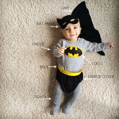 393b802ae diy batman and batgirl costume | Halloween | Baby batman costume ...