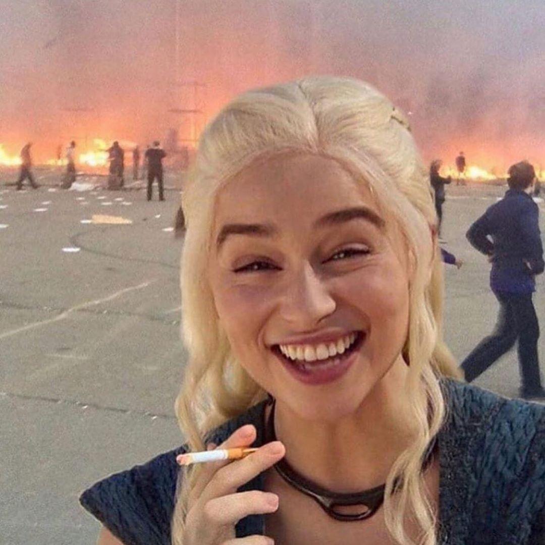 Fire Girl Meme Template