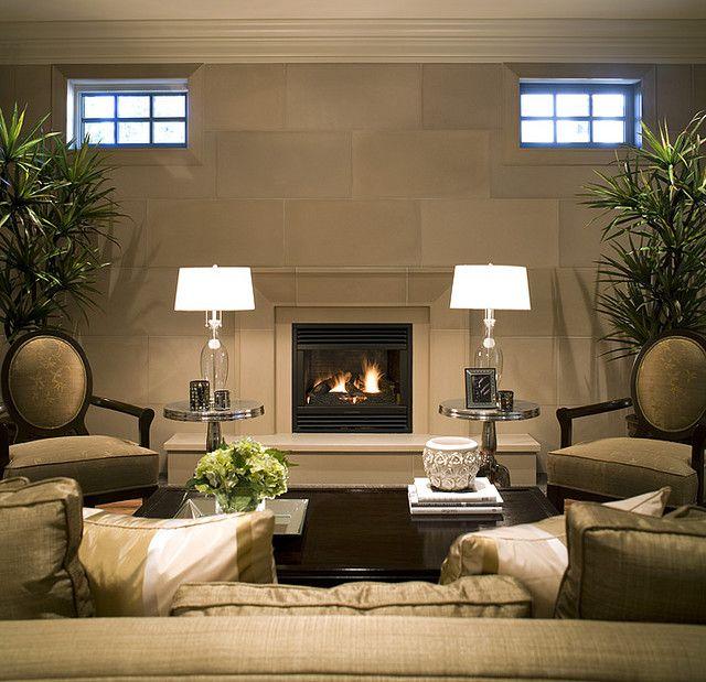 Elegant Linen Taper Cast Concrete Fireplace Mantel For More Information:  Www.solusdecor.com