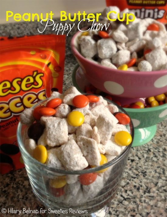 Now that I know how to make puppy chow, I will have to try this alternative. Peanut Butter Cup People Puppy Chow #Recipe #puppychow