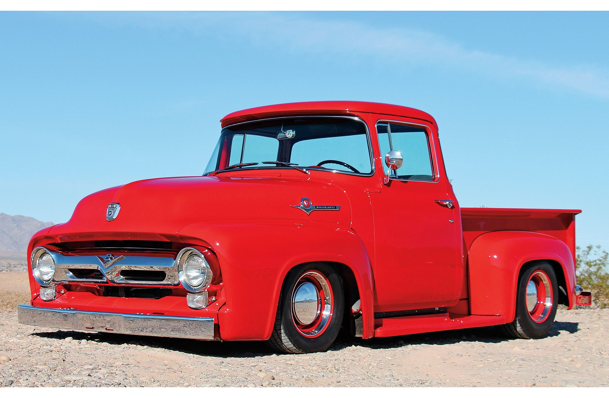 1956 Ford F 100 Big Red Hot Rod Network Classic Ford Trucks Classic Trucks Classic Pickup Trucks