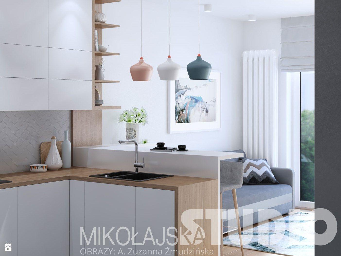 mieszkanie w stylu skandynawskim zdjęcie od MIKOŁAJSKAstudio
