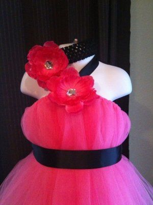 tutu dress I want to make for flower girls but instead of black ribbon I want camo