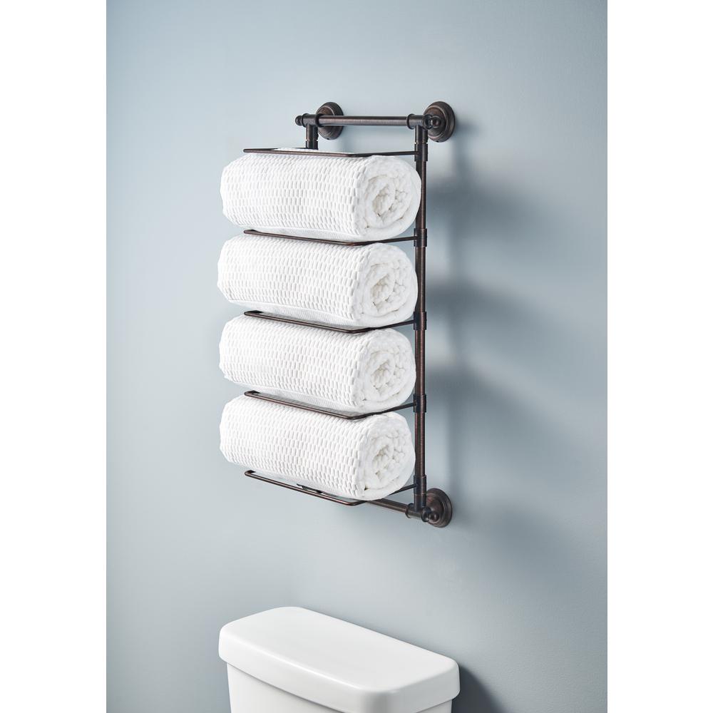 Delta 5-Bar Wall-Mounted Towel Rack in Venetian Bronze-HEXTN01-VBR - The Home Depot