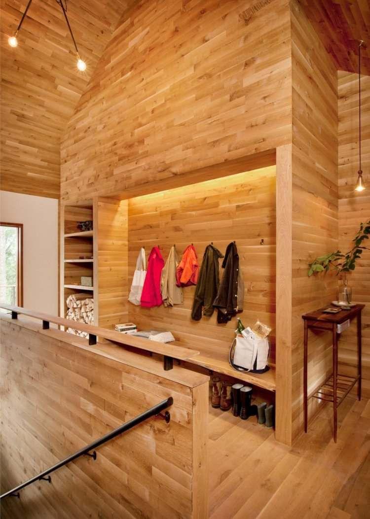 Прекрасный деревянный дом, расположенный в 185 километрах от Нью-Йорка, США, был спроектирован архитекторами и дизайнерами студии Lang Architecture
