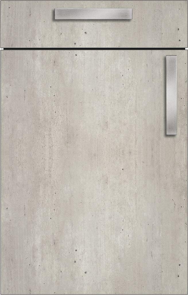 bauformat brest 186 concrete kitchen cabinets door and carcase finish urban concrete look