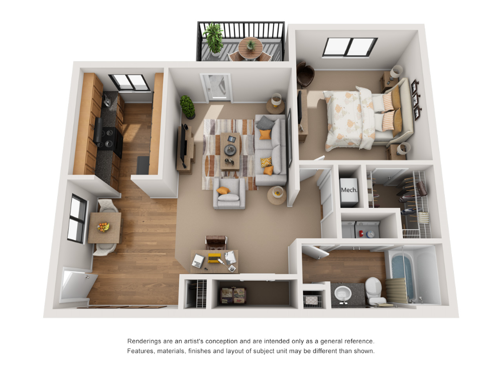 One and Two Bedroom Apartments in Indianapolis, IN Sims