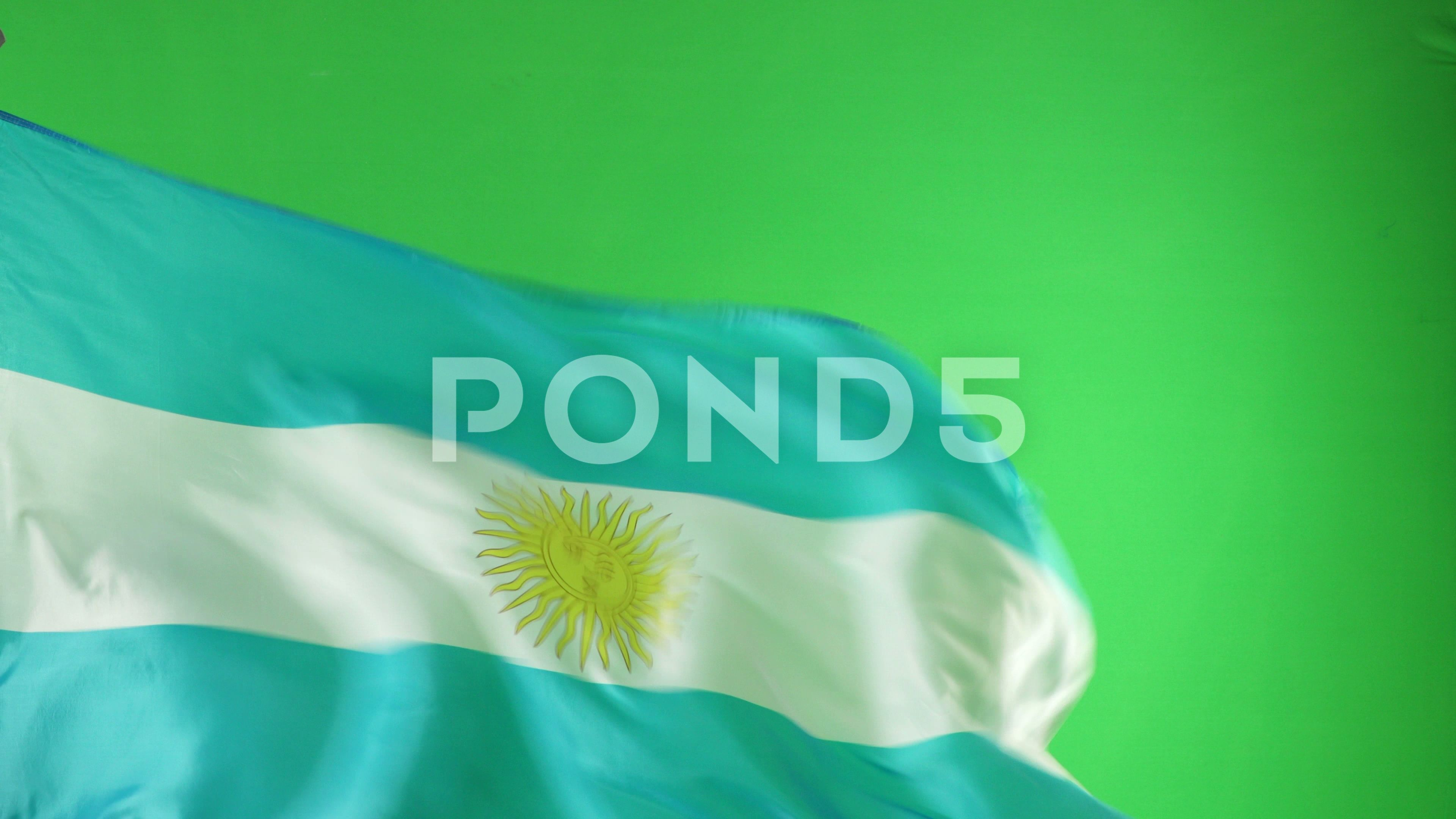 Argentina Flag Flying In Front Of Green Screen Chroma Key Argentinian Ad Front Green Flying Argentina In 2020 Chroma Key Greenscreen Argentina