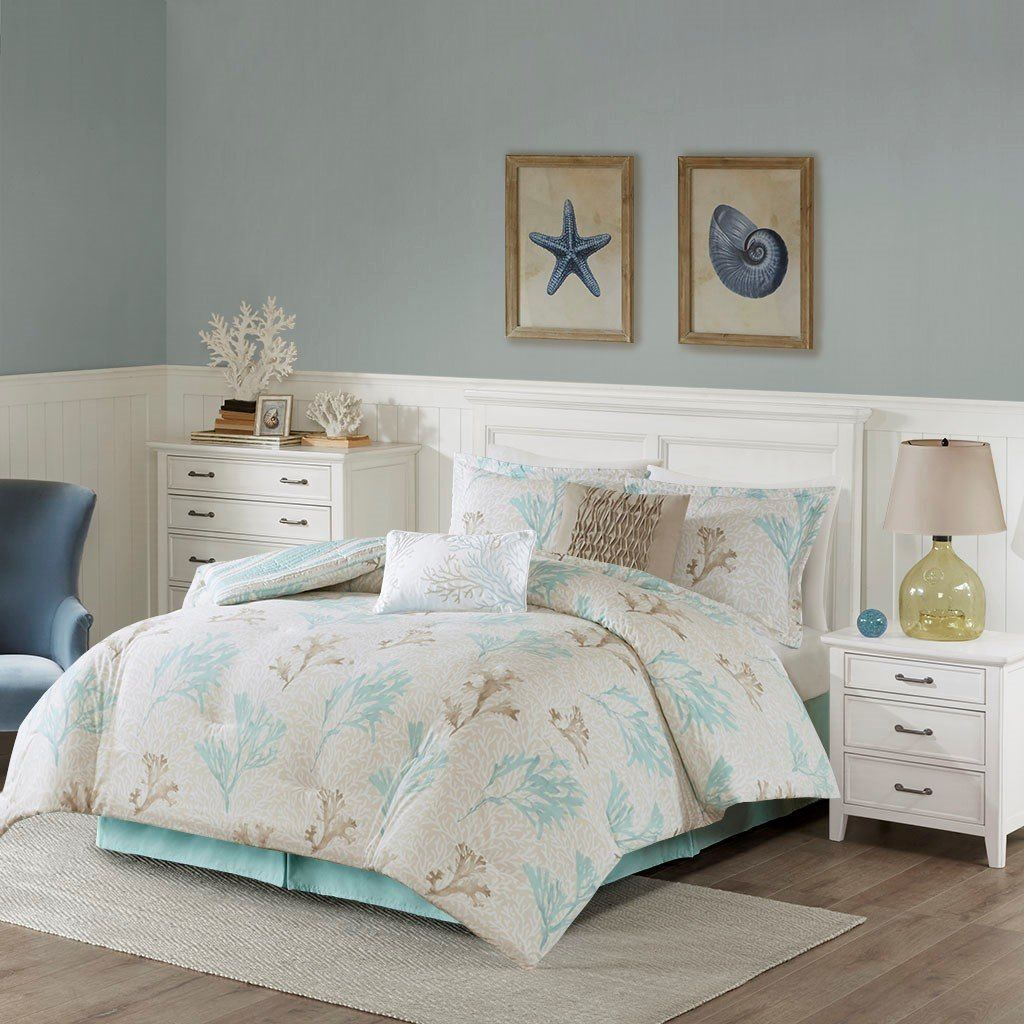 Ocean Reef Reversible Comforter Set Queen Size With Images