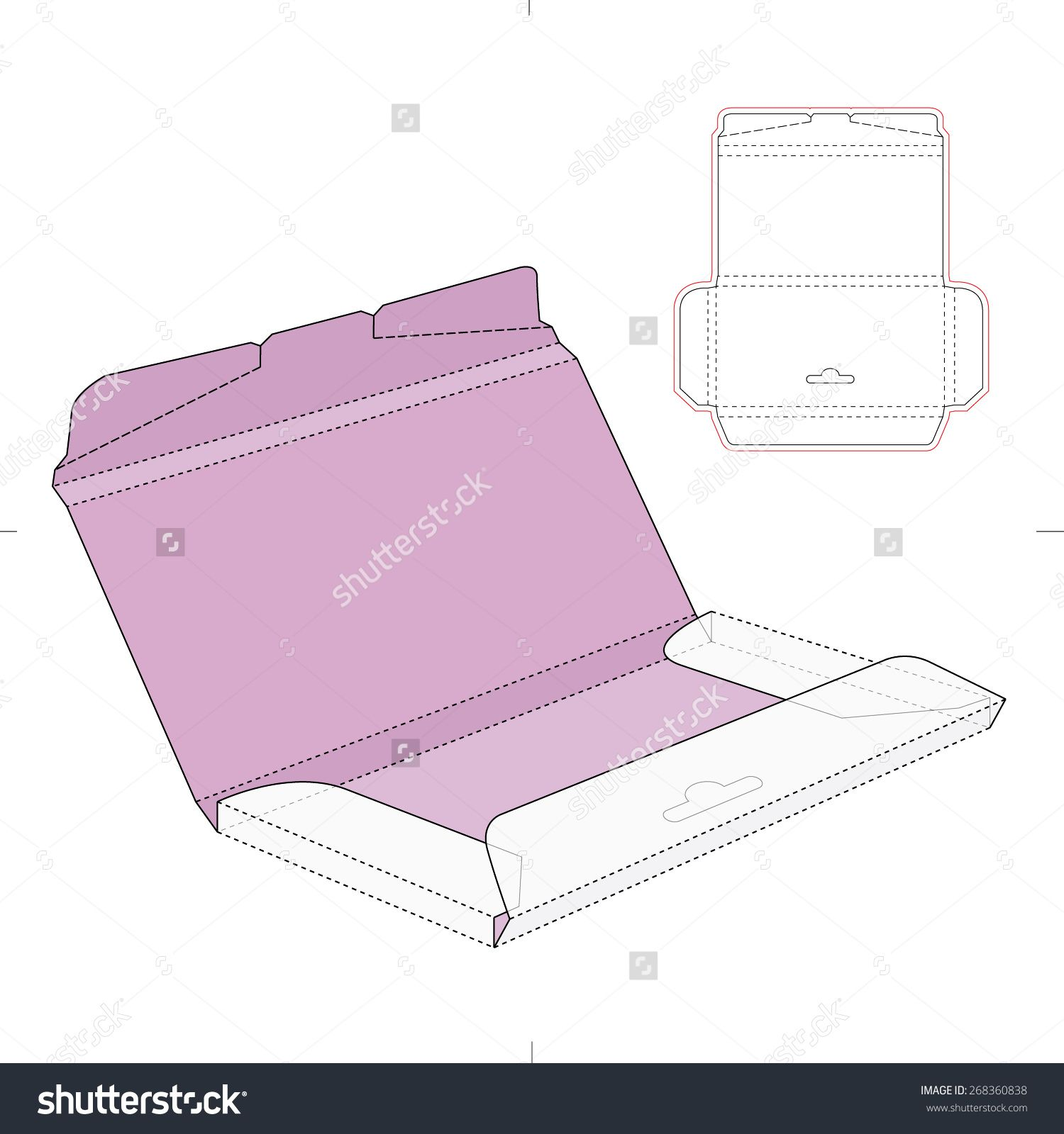 chocolate box with die cut template stock vector illustration