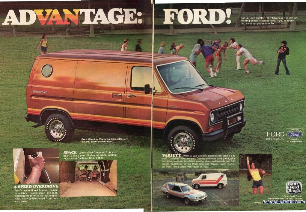 1978 Ford Econoline 150 Van Stitched Car And Driver Advertisement