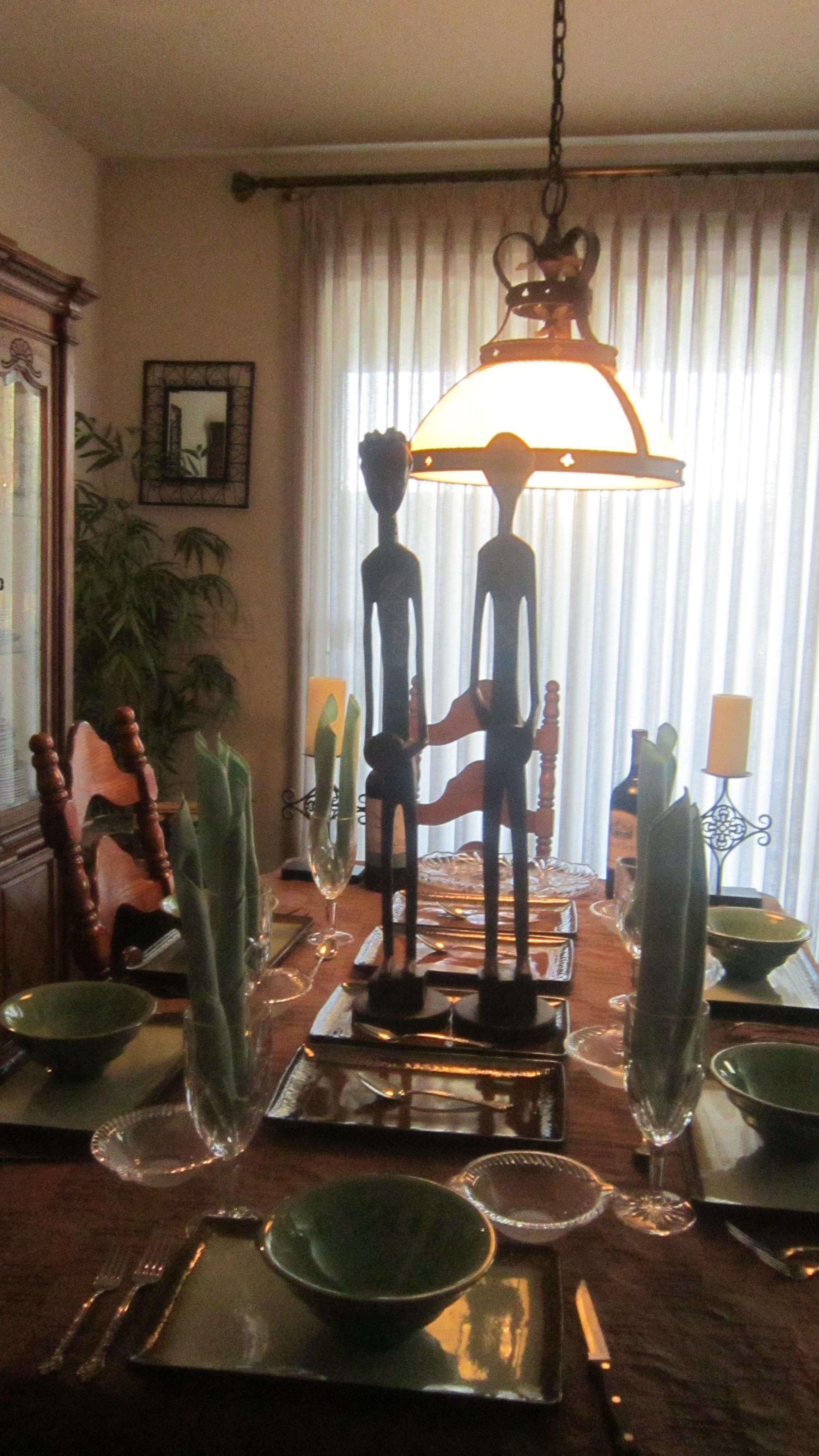 African tablescape   Ceiling lights, Decor, Home decor