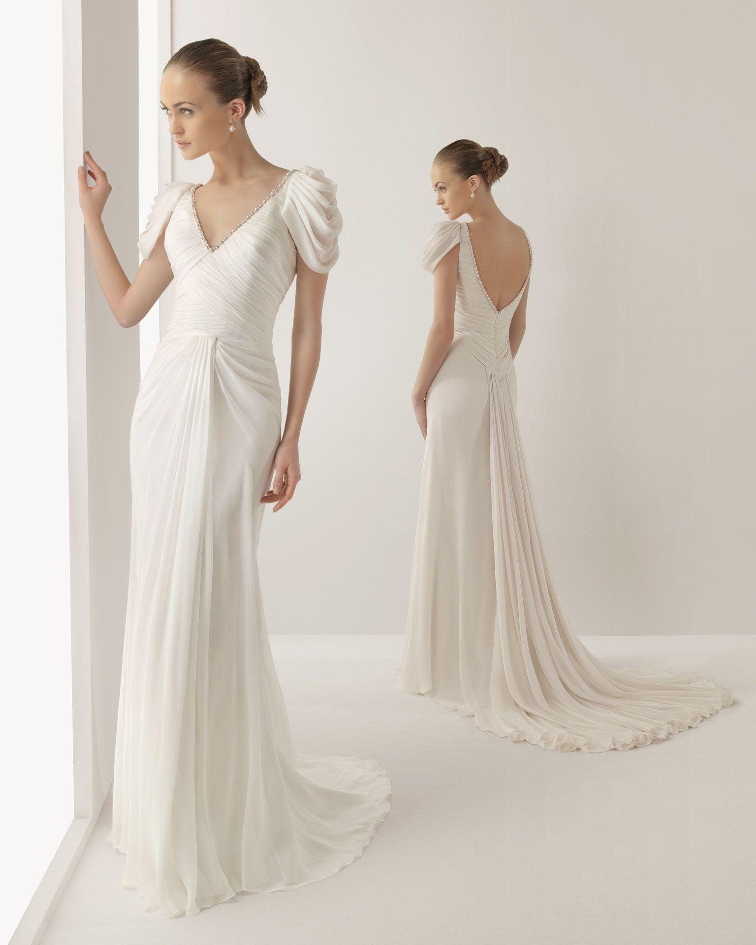 Rosa Clara Vestidos De Novia O Fiesta Para Estar Perfecta Long Wedding Dresses: Grecian Y Wedding Dresses At Reisefeber.org