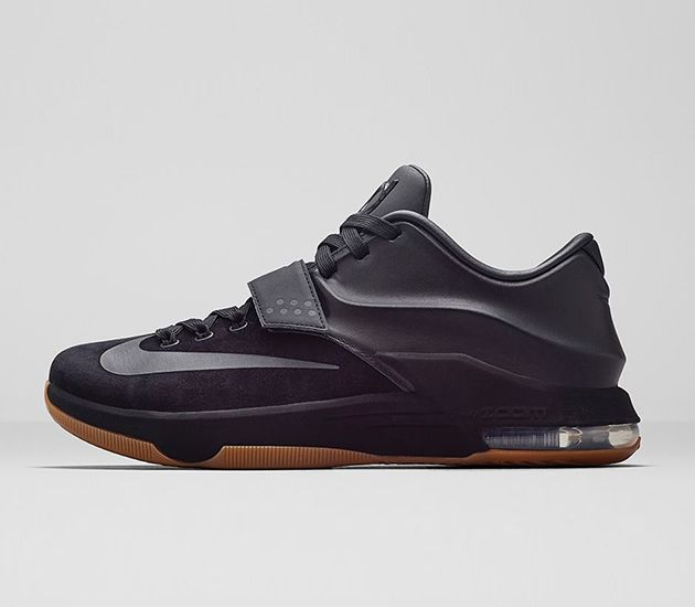 Channeling the  Not Nice  side of OKC Thunder MVP forward Kevin Durant. The  Nike KD 7 EXT Suede is an all-black version of his latest signature  silhouette. ca3c00131b