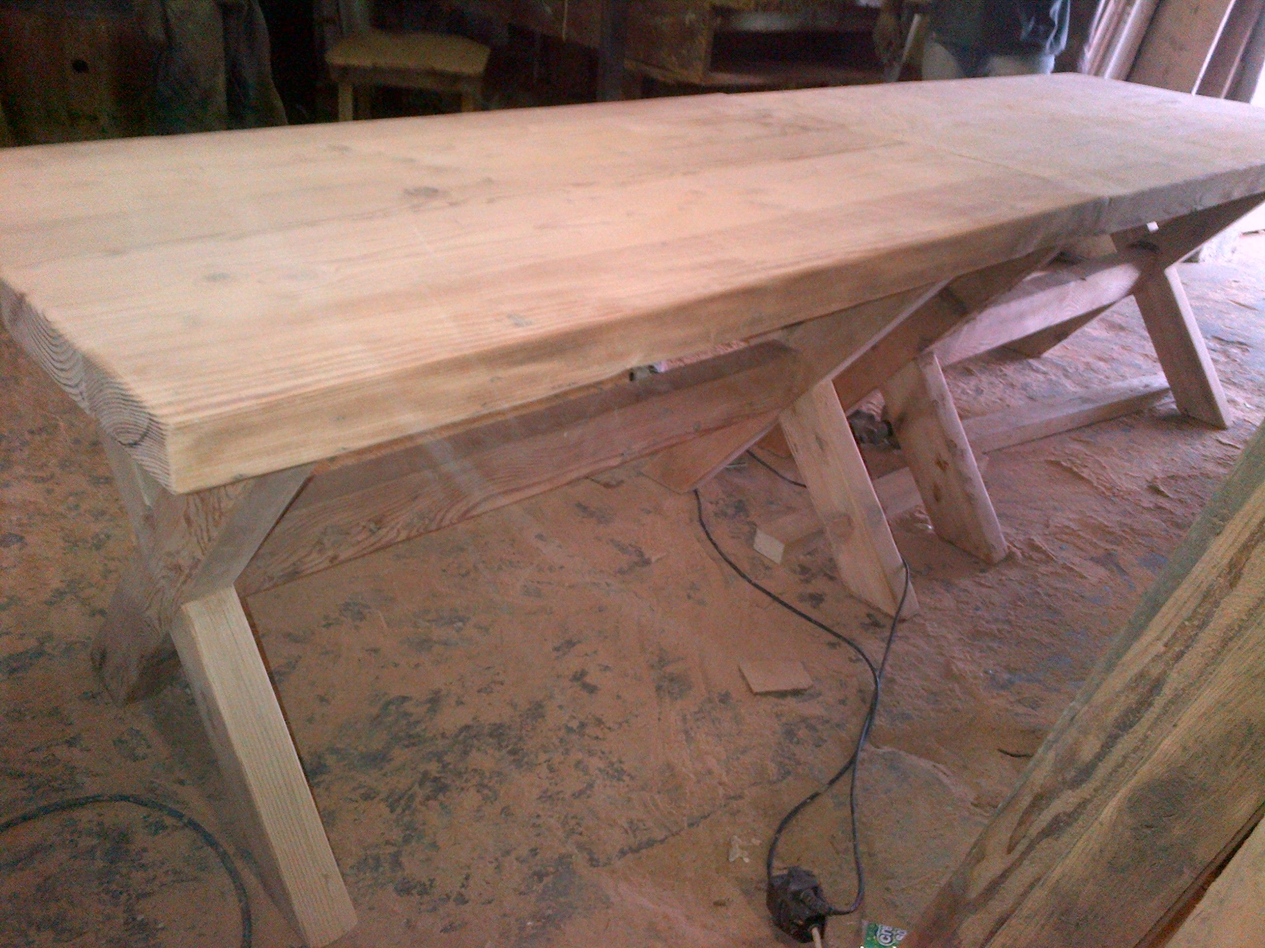 Rustic dining room table seats 10 recycled and reclaimed for Reclaimed wood oregon
