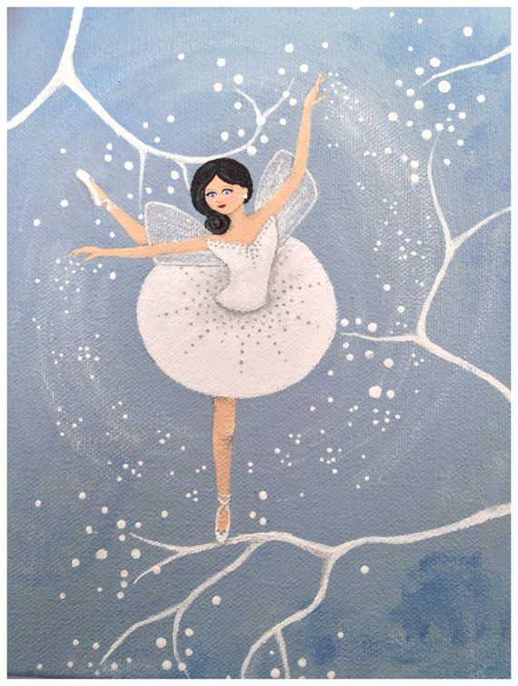 Original Whimsical Dancing Fairy Painting by LittleSparrowGallery