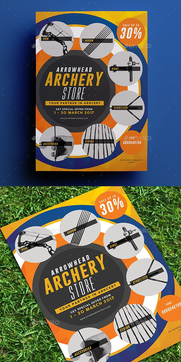 Archery Store Flyer Archery store, Archery and Flyer template - sports flyer template