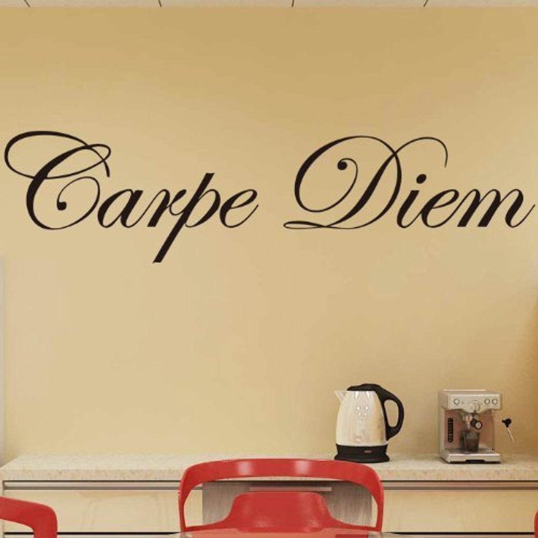 Chioum Carpe Diem Quotes Saying Home Decor Removable Wall Sticker ...