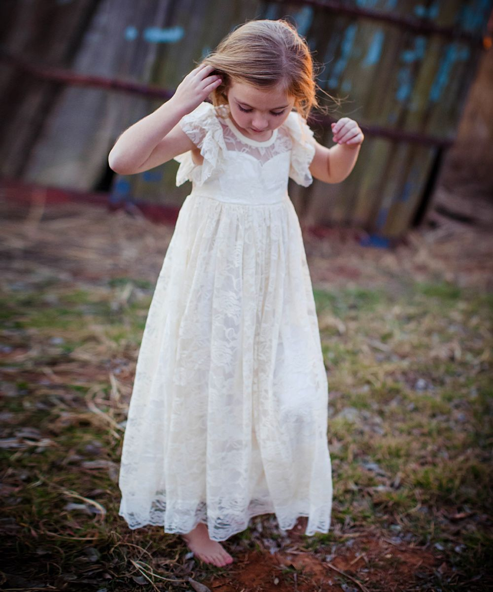 Buttercream laceoverlay gown toddler girls toddler