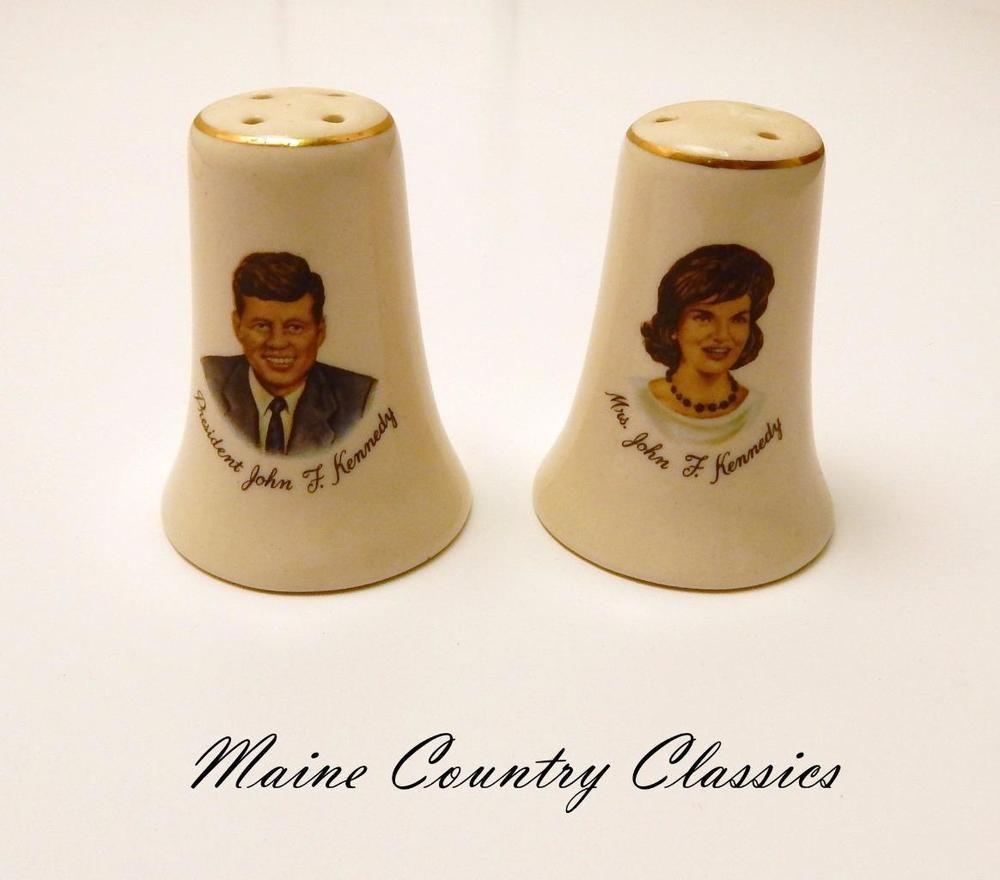 Vintage President Mr Mrs John F Kennedy Salt Pepper Shakers