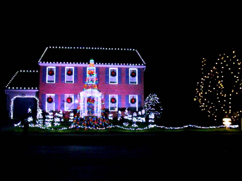 2015 Kurtz Christmas Lights Fight Song Holiday Lights Display