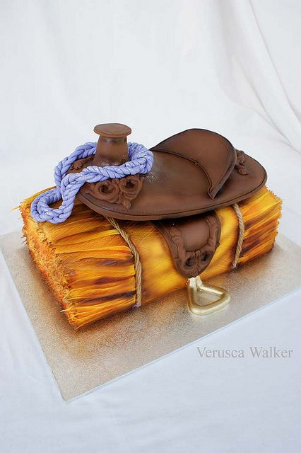 Saddle on Hay Bale Cake | Flickr - Photo Sharing!