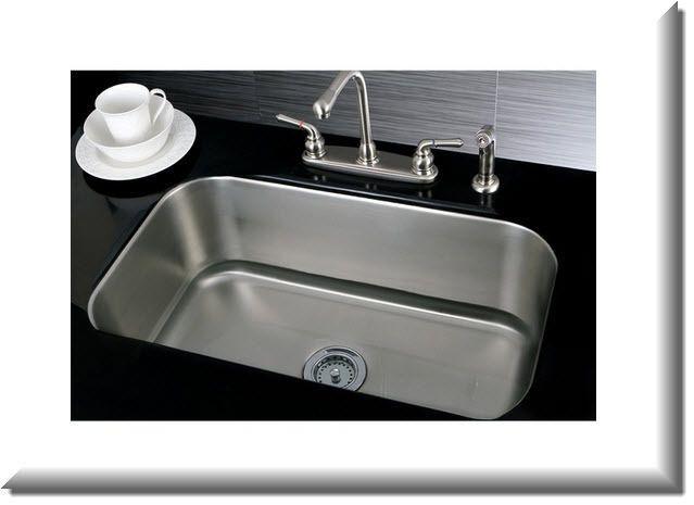 Designer Collection Single Bowl 30 Inch Undermount Stainless Steel Sink Kitchen #Kraus