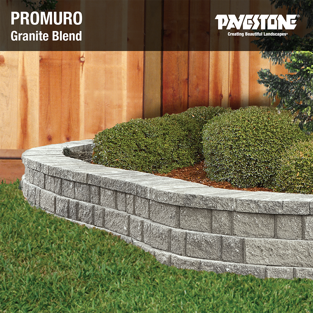 Promuro S False Joint Design Convincingly Replicates A Multi Piece System Look With Single Piece Installation Speed Garden Wall Landscape Walls Retaining Wall
