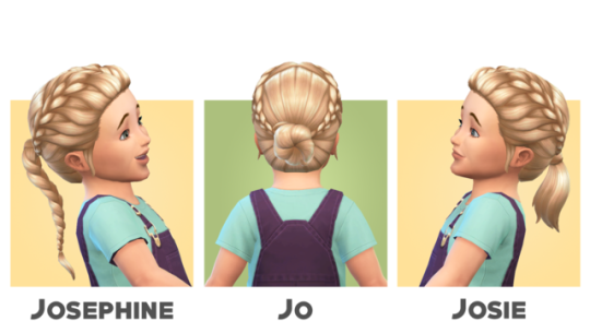 Toddlers Hair I by blogsimplesimmer via tumblr I Sims 4 I