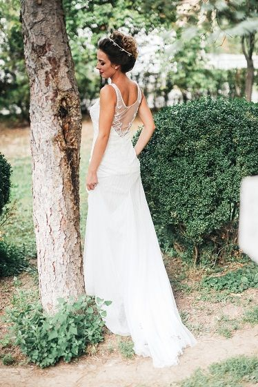 Summertime Weddings Are So And Soft A Beautiful Wedding Dress Back That Flows Just Like The Winds Of Greenery Rom