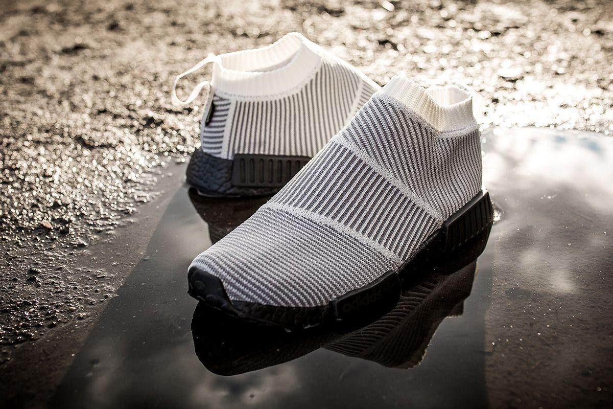 Adidas originali nmd cs1 gtx in bianco, grigio e nero unione calcio