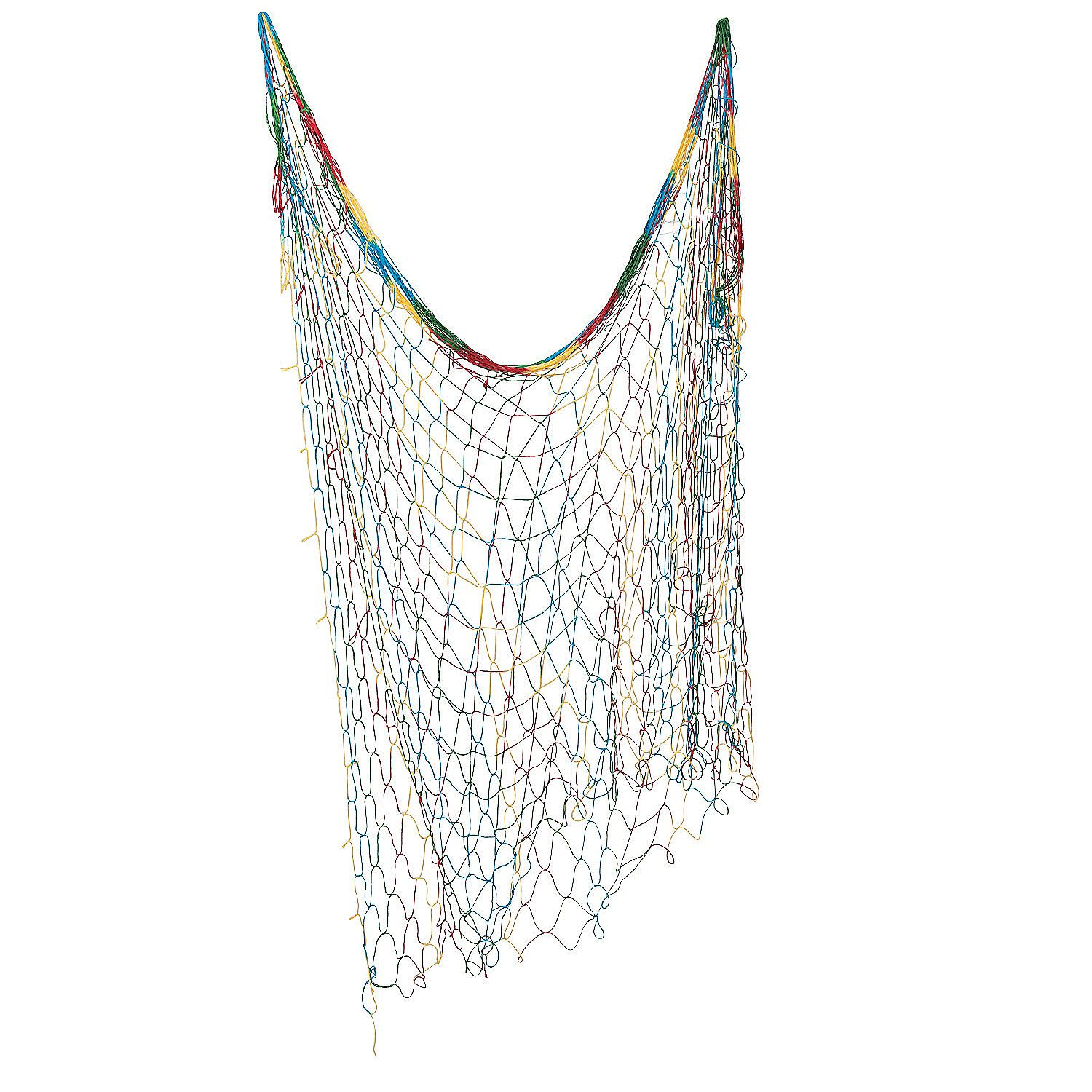 Tie-Dye Fish Net - to keep stuffed animals in picture area but out of reach! OrientalTrading.com $4.50 4' x 14' (or get 3 neutral nets for $12.99)