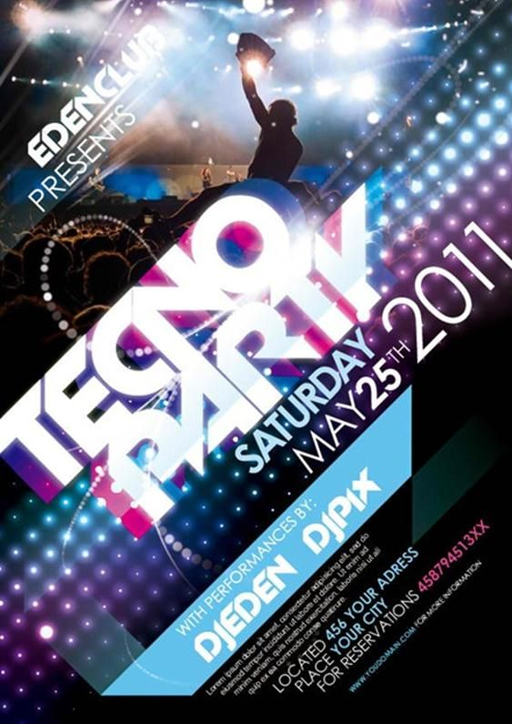 Techno party poster google zoeken ing 2 pinterest party flyer free techno party flyer template with techno party style background and shine effects this flyer design ideal for a night clubhouse party pronofoot35fo Image collections