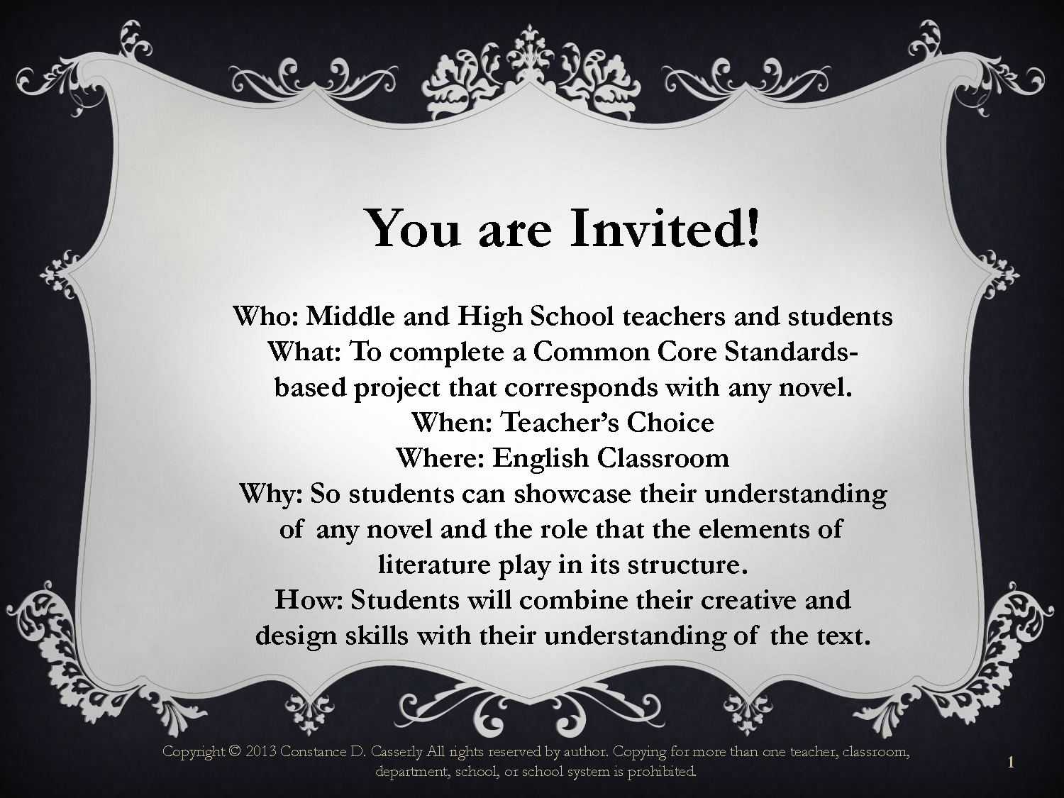 Readingysis Activity You Are Invited