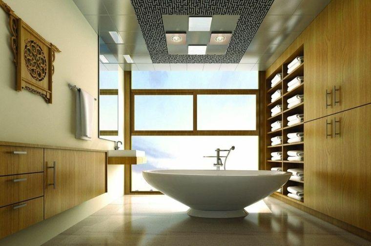 Plafond salle de bain  peinture et style en 40 idées Bath room - peindre plafond salle de bain