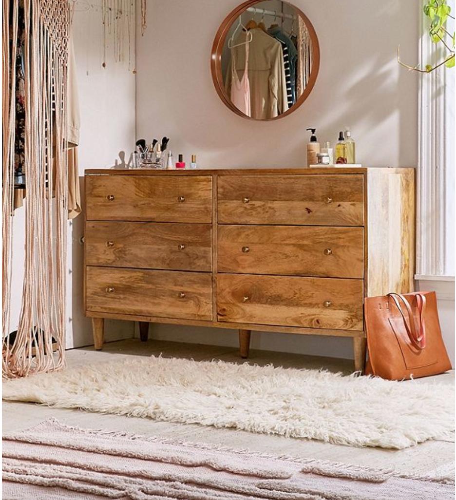 Amelia 6Drawer Dresser in 2020 Wood bedroom furniture