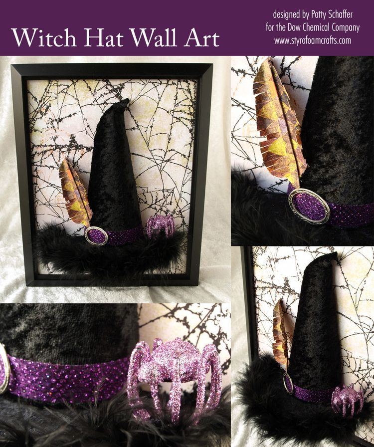 witch hat wall art or tabletop decoration