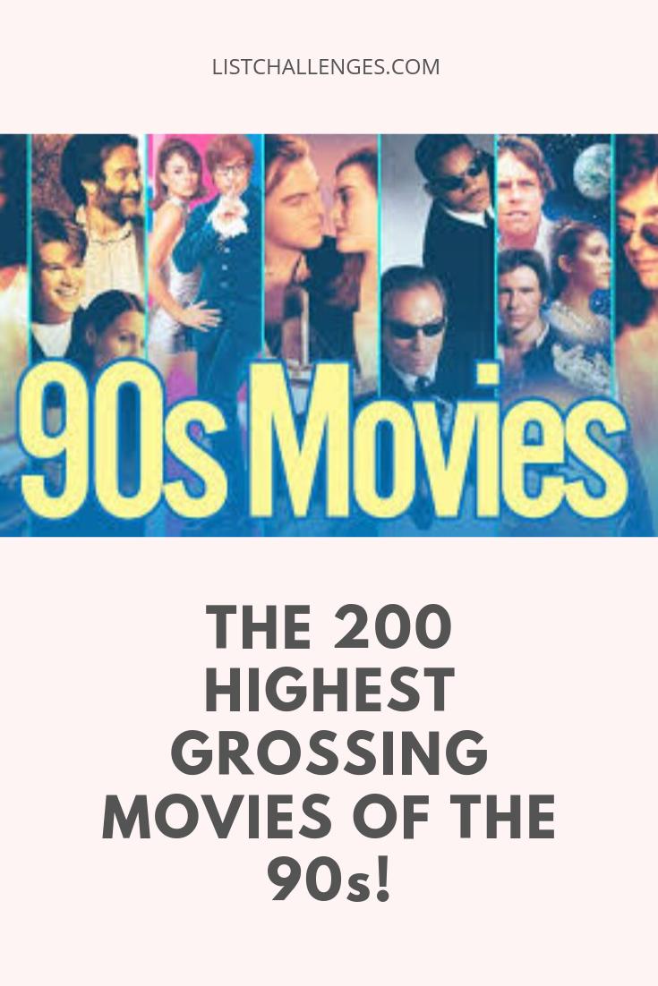 200 Highest Grossing Movies 1990 1999 Highest Grossing Movies Movies 90s Movies