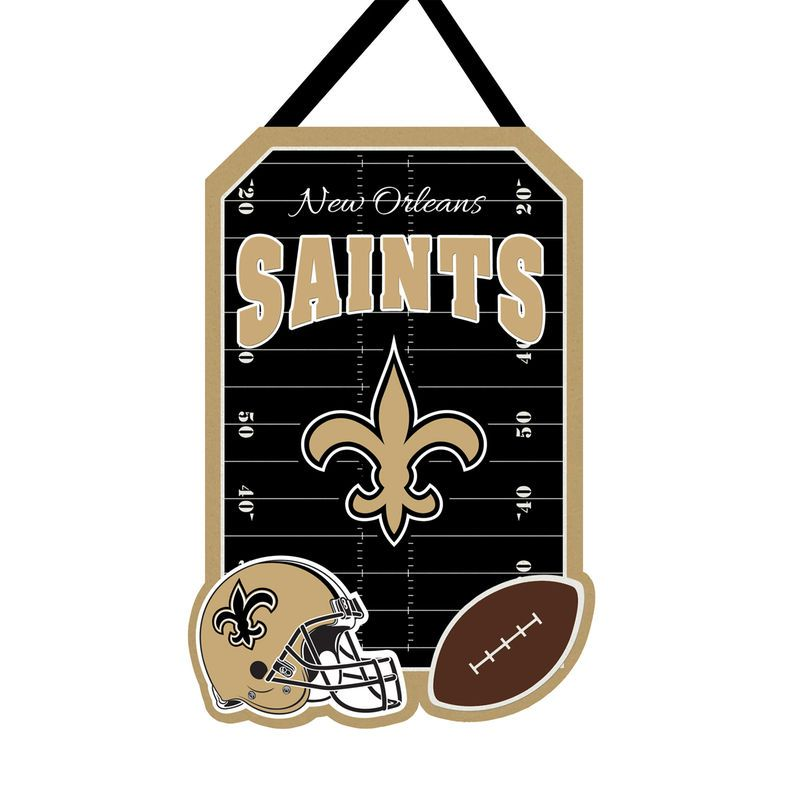 New Orleans Saints 20 5 X 16 5 Felt Door Decor Wall Banner New