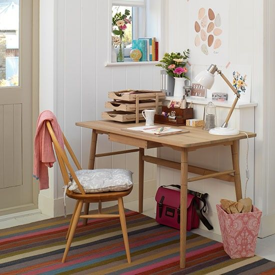 retro home office. White Country Home Office With Retrostyle Desk And Chair Retro