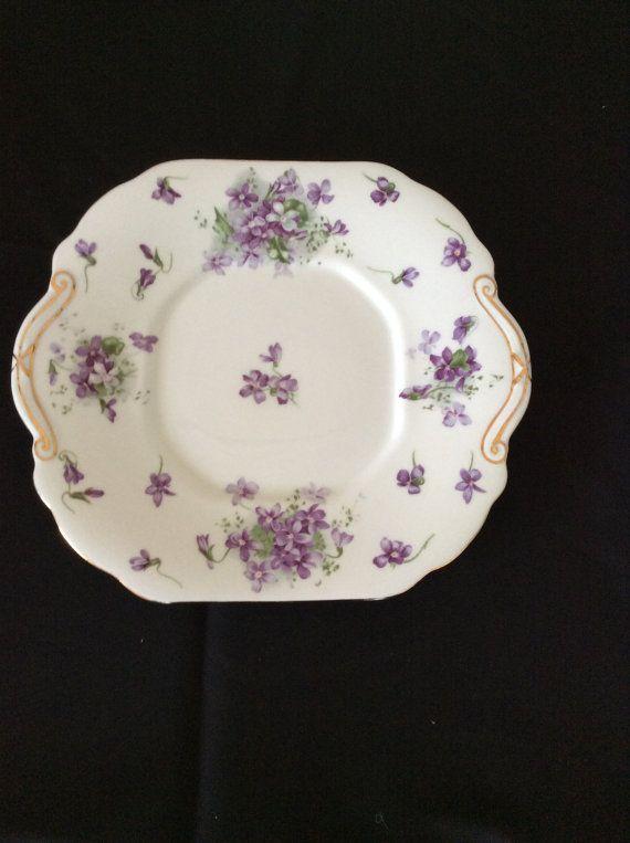 Vintage Hammersley Victorian Violets England Bone China Trinket Dish
