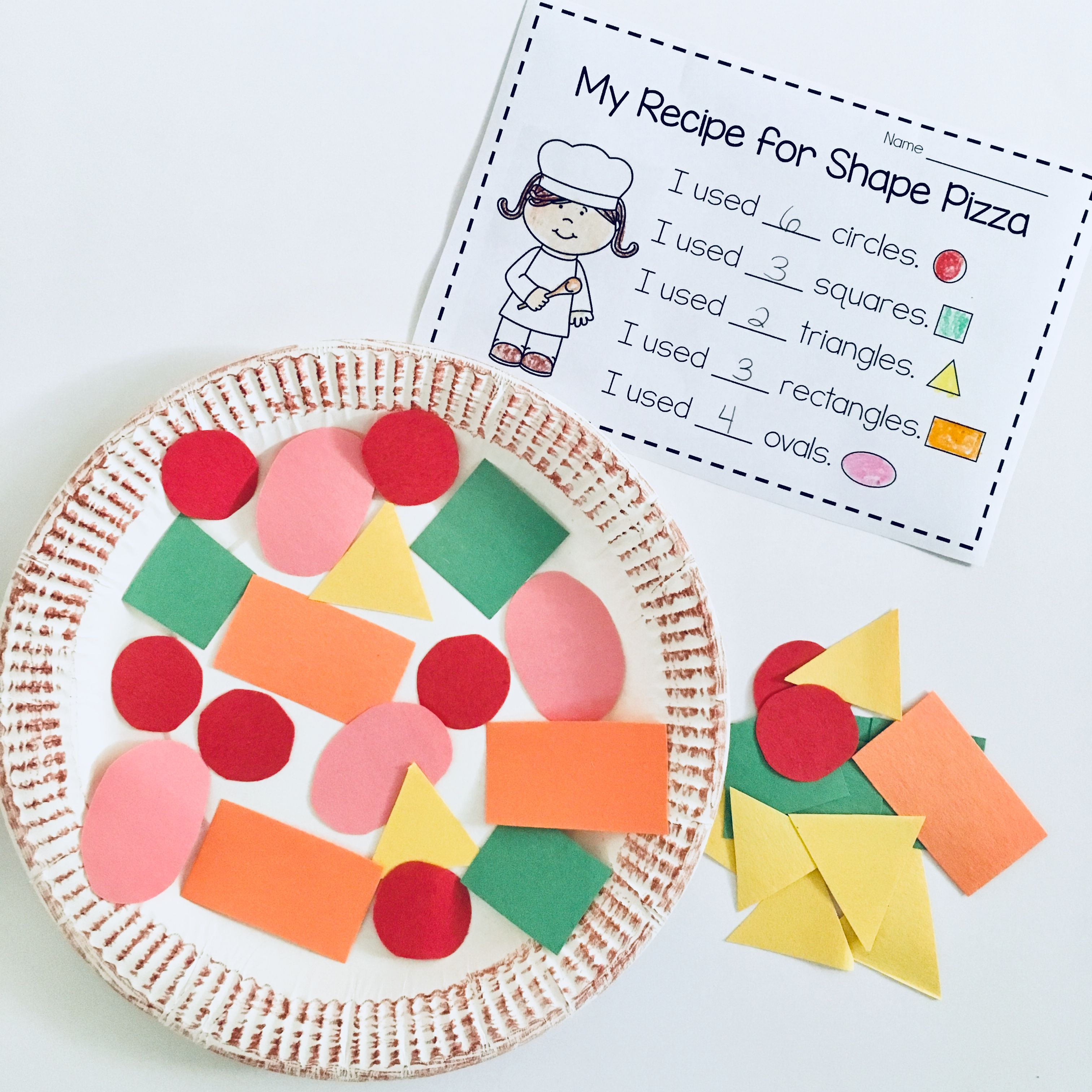 Shape Pizza Mrs Thompson S Treasures Shape Activities Kindergarten Shapes Kindergarten Learning Shapes Activities [ 3024 x 3024 Pixel ]