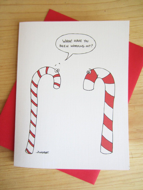 Christmas Card: Candy Cane Cartoon
