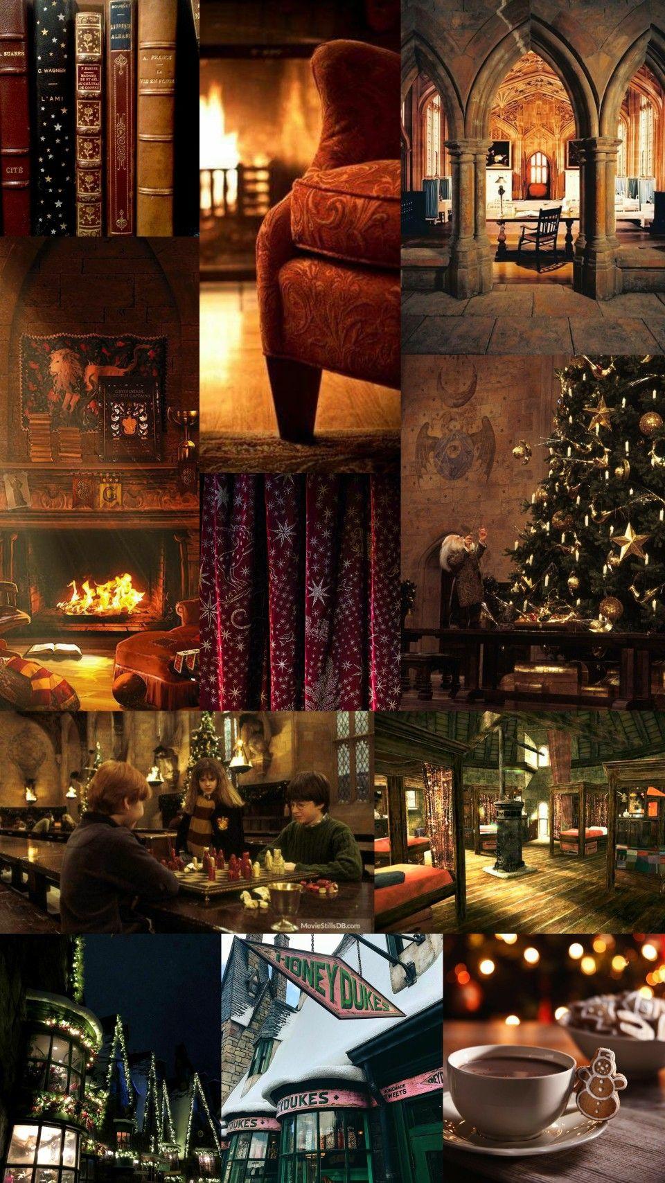 Harry Potter Christmas Winter Aesthetic Harry Potter Wallpaper Hogwarts Christmas Harry Potter Iphone Wallpaper